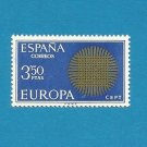 EUROPA CEPT STAMP SPAIN SUN OF INTERWOVEN FIBRES 1970