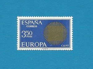 EUROPA CEPT STAMP SPAIN SUN OF INTERWOVEN FIBRES 1970