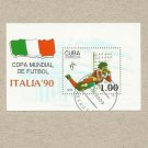 CUBA ITALIA 90 ITALY 1990 FIFA FOOTBALL WORLD CUP STAMP MINIPAGE