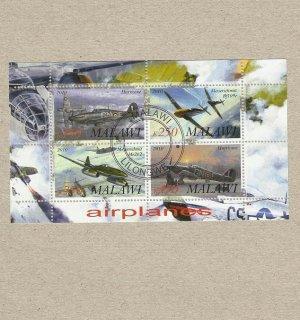 MALAWI RAF HURRICANE LUFTWAFFE MESSERSCHMITT FOUR STAMPS MINISHEET 2010