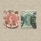 TWO QUEEN VICTORIA VICTORIAN ONE HALFPENNY POSTAGE STAMPS