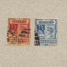 AUSTRALIA VICTORIA COLONY 1891-99 TWO TANNERBERG TWOPENCE HALFPENNY STAMPS