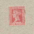 AUSTRALIA VICTORIA COLONY 1890-1901  READING DESIGN ONE PENNY STAMP