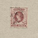 AUSTRALIA VICTORIA COLONY 1891-89  TANNENBERG DESIGN FIVE PENCE STAMP