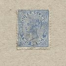 AUSTRALIA QUEENSLAND COLONY 1882  VICTORIAN TWO PENCE STAMP