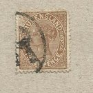 AUSTRALIA QUEENSLAND COLONY 1890  VICTORIAN THREE PENCE STAMP
