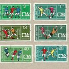BULGARIA FIFA FOOTBALL WORLD CUP STAMPS 1974