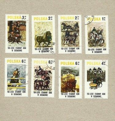 POLAND SET SIERAKOW HORSE RIDING STAMPS 1980