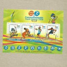 INDIA III COMMONWEALTH YOUTH GAMES STAMP MINISHEET 2008