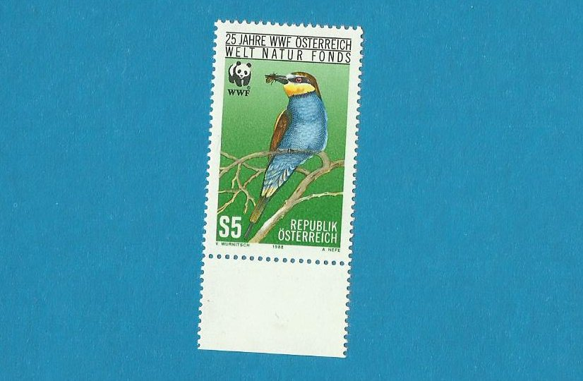 AUSTRIA WWF 25 YEARS OF THE WORLD WILDLIFE FUND 1988
