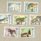POLAND SET WARSAW ZOO ANIMALS ELEPHANT JAGUAR BEAR STAMPS 1978