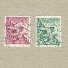 CZECHOSLOVAKIA BIRDS OF PREY HAWK STAMPS 1938