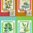 PORTUGAL AZORES FLORES REGIONAIS ACORES MAXIMUM CARDS 1981