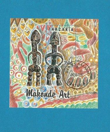TANZANIA MAKONDE ART 1992 STAMP MINISHEET