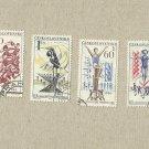 CZECHOSLOVAKIA  SET OF FOUR SPORT SPARTAKIADE STAMPS 1965