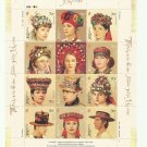 UKRAINE TRADITIONAL HEADDRESS OF UKRAINIAN WOMEN STAMPS 2007