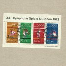 GERMANY MUNICH MUNCHEN OLYMPIC GAMES 1972 SOUVENIR MINISHEET