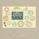 CUBA 150th ANNIVERSARY OF THE RAILWAY STAMP MINIPAGE 1987