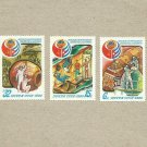 RUSSIA SOVIET UNION SOVIET CUBAN SPACE FLIGHT STAMPS 1980