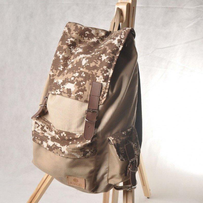 """Artsivaris Army Military Waterproof Canvas Laptop Bag 14"""" School Campus Backpack"""