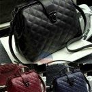 Artsivaris Women Leather Handbag Vintage Travel Quilt Doctor Bag Clutch Satchel
