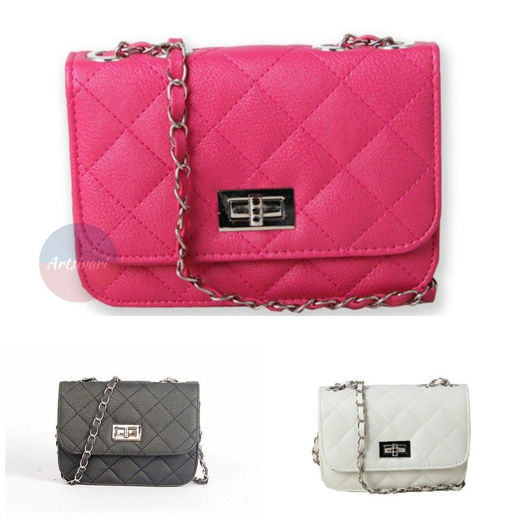 Artsivaris Women Leather Small Handbag Casual Quilted Messenger Bag Purse