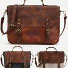 Artsivaris NEW Vintage Medium Satchel Leather Travel College Messenger Bag