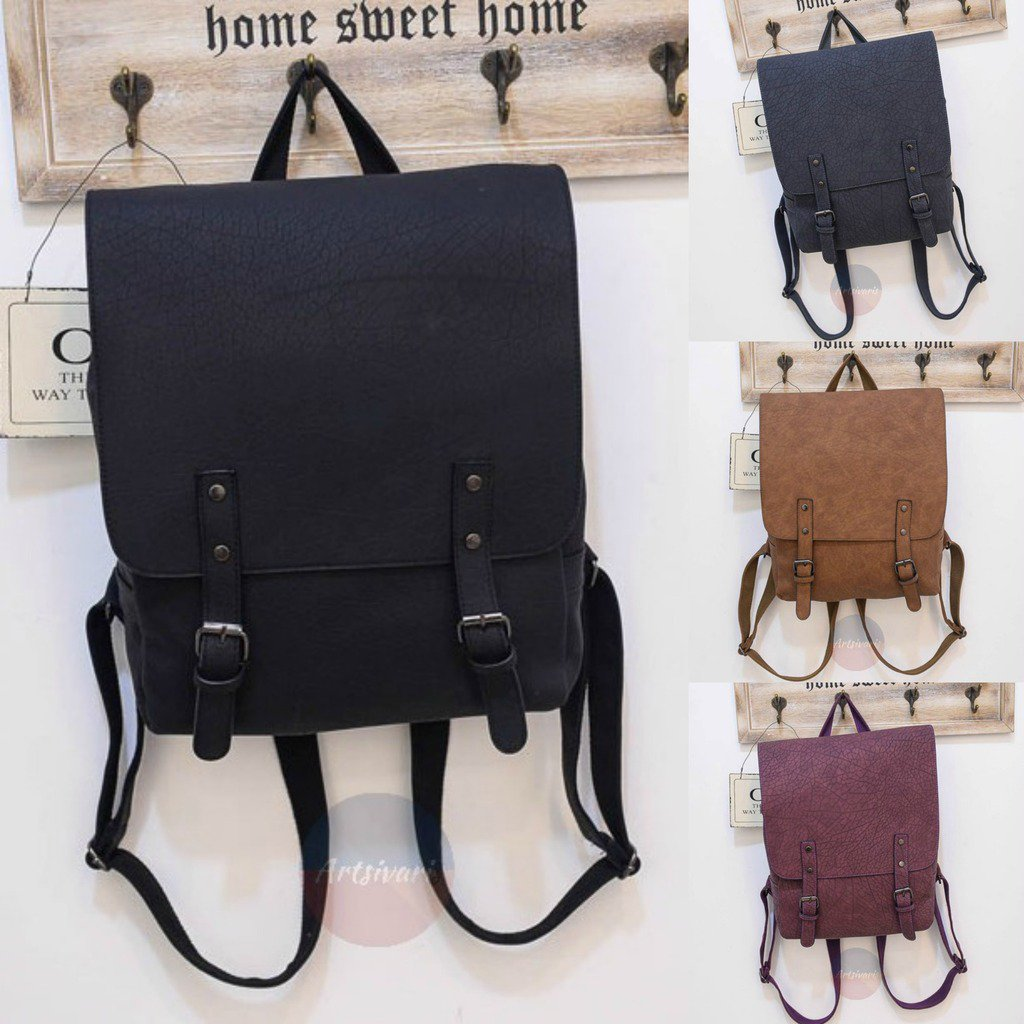 Stylish Women Genuine Leather Backpack School College Travel Handbag Vintage Bag