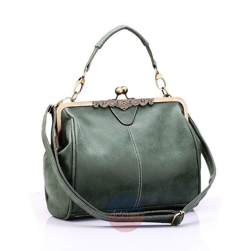 Women's Retro Vintage Leather Messenger Bag Stylish Shoulder Bag Clutch Handbag