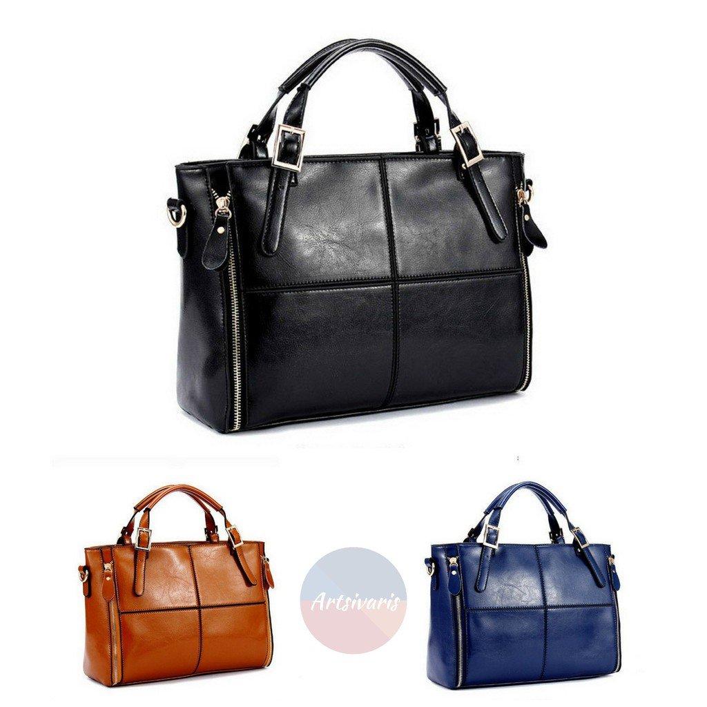 Artsivaris Women Split Leather Handbag Travel Casual Messenger Shoulder Bag