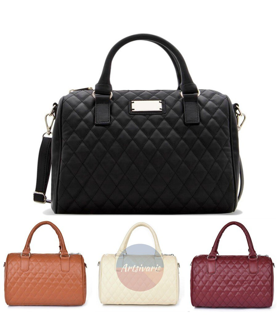 NEW Women Quilted Leather Satchel Elegant Crossbody Shoulder Bag Handbag Purse