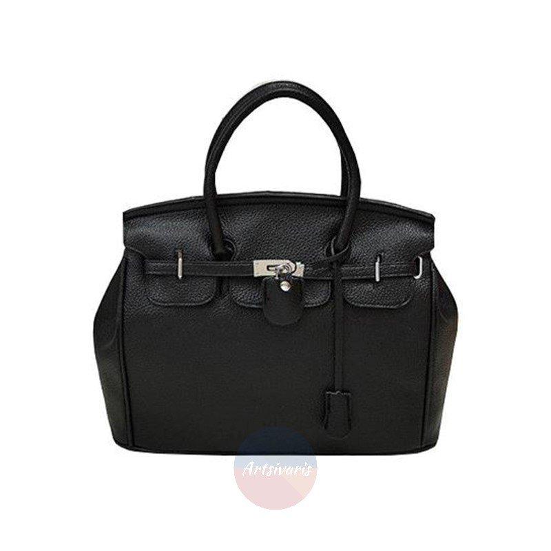 Artsivaris Women Leather Medium Handbag Stylish Luxurious Tote Bag Purse Satchel