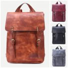 Vintage Large Backpack Stud Leather Travel School Bag Casual Fashion Rucksack