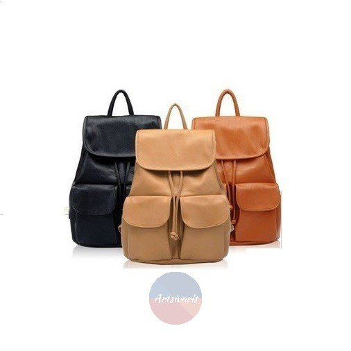 Stylish Women Leather Backpack School Book Bag Casual Travel Vintage Satchel