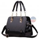 Stylish Women Handbag Black Leather Shoulder Bags Lady Messenger Purse Bag