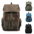 Stylish Men Women Backpack Canvas Shoulder Bag Travel School Vintage Rucksack