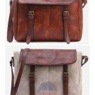 Stylish Vintage Buckled Sling Leather Messenger Bag Travel School Book Satchel
