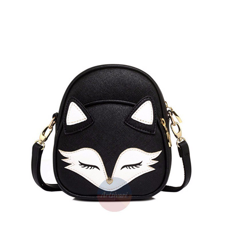 Stylish Fox Cartoon Women Shoulder Bag Leather Handbag Sling Crossbody Messenger