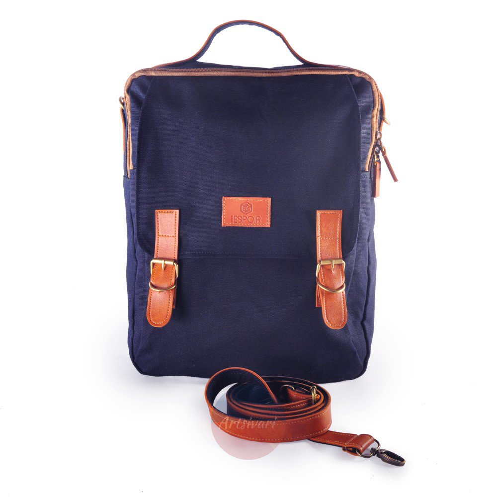 Stylish Men Women Canvas Backpack 13 Laptop Business Briefcase Travel School Bag