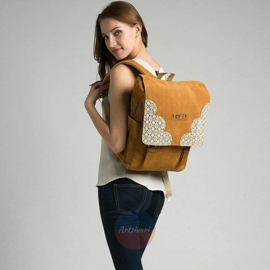 Stylish NEW Canvas Rucksack Laptop Backpack Travel Daypack School Shoulder Bag