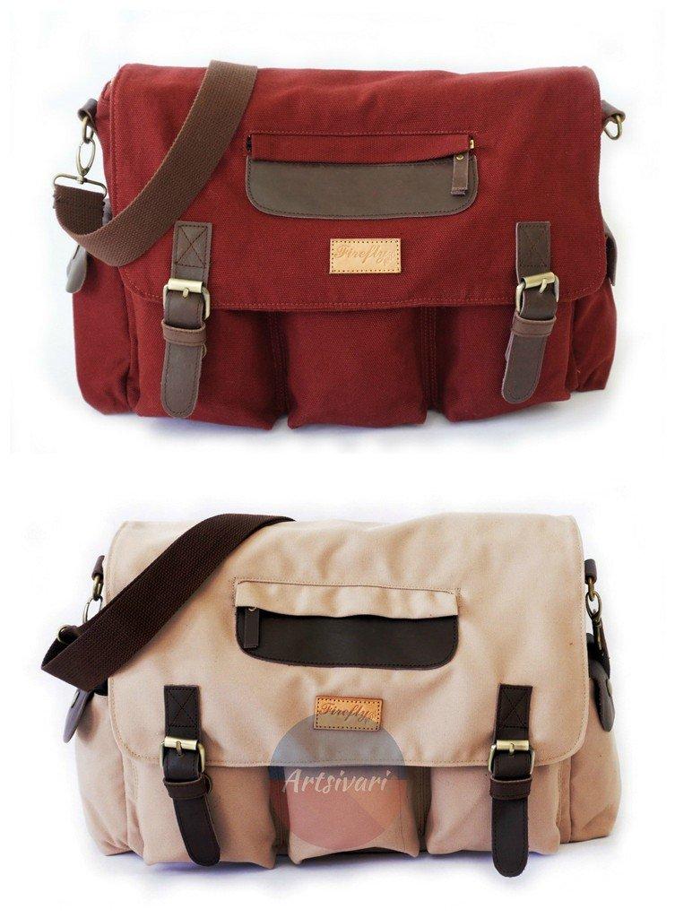 Stylish Vintage Canvas Messenger Laptop Satchel Travel Casual School Book Bag
