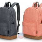 "Stylish Men Women Canvas Backpack School College 14"" Laptop Rucksack Travel Bag"