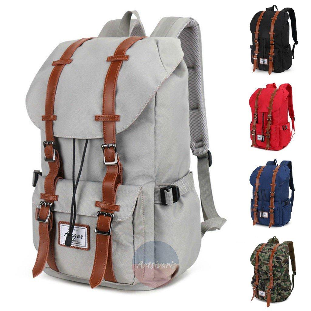 "Stylish Unisex 15"" Laptop Shoulder Bag Travel Outdoor School Book Nylon Backpack"