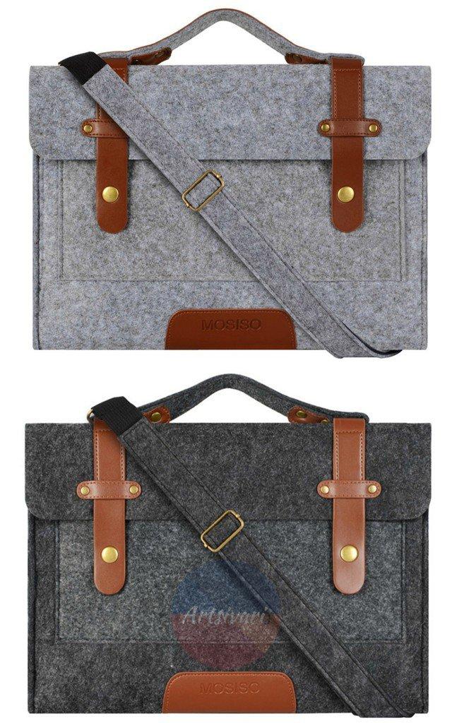 """Felt Laptop Sleeve 11 - 15.6"""" Shoulder Bag Cover Netbook Handbag MacBook Case"""