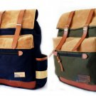 "Stylish Vintage Canvas Backpack 14"" Laptop Satchel Travel Hiking School Book Bag"