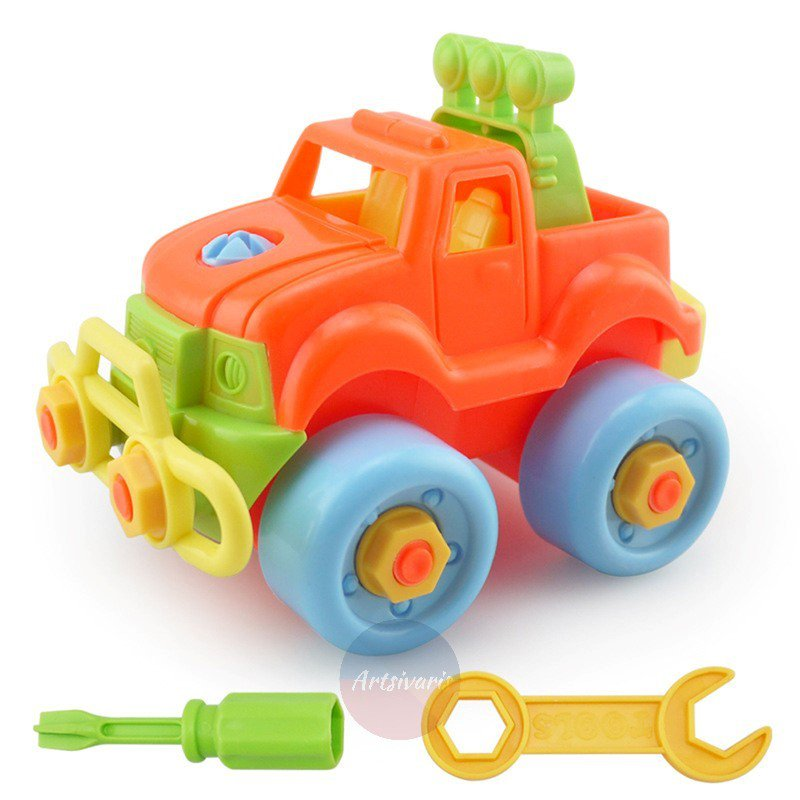 Christmas Gift Kids Child Baby Boy Assembly Classic Plastic Car Educational Toys