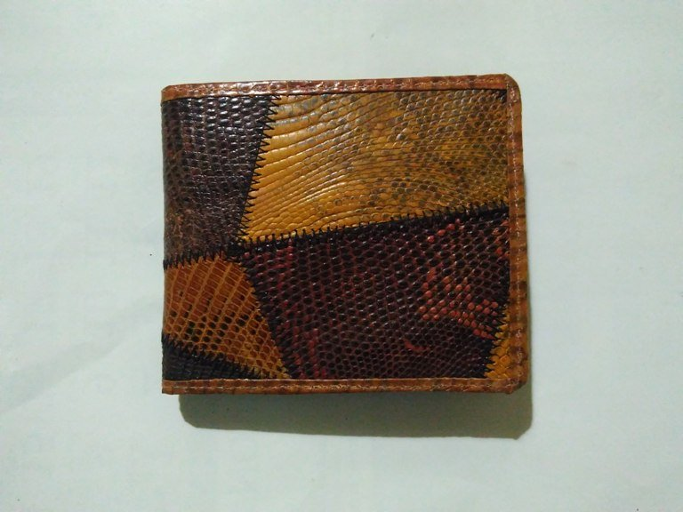 WALLET BI-FOLD REAL GENUINE LIZARD SKIN LEATHER