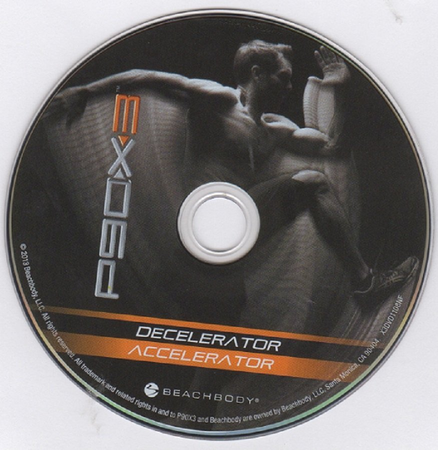 Beachbody P90X3 Decelerator & Accelerator Replacement Disc DVD