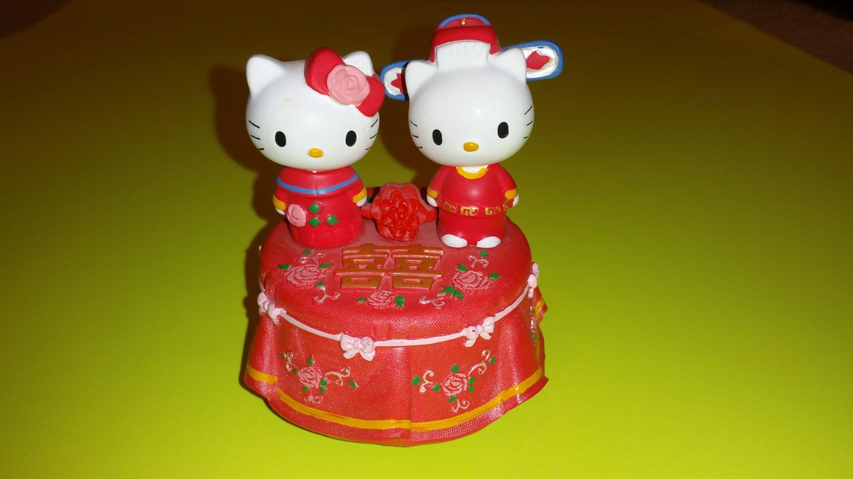 Hello Kitty and Dear Daniel Ceramic Chinese Wedding Music Box