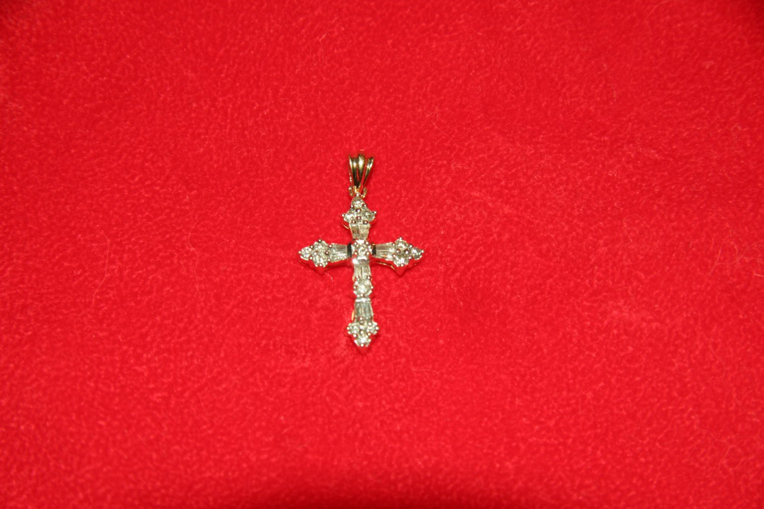 Diamond and Silver Cross Pendant